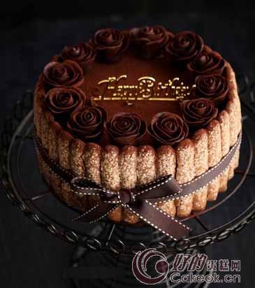巧克力玫瑰花提拉米苏蛋糕的制作方法图片
